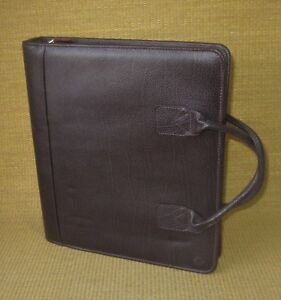 Monarch 1 75 Rings Burgundy Leather Franklin Covey quest Zip Planner binder
