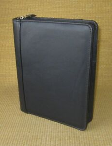Classic 1 5 Rings Black Leather Franklin Covey Zip Planner binder Sample