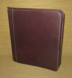 Monarch 1 75 Rings Brown Leather Franklin Covey Zip Planner binder Handle