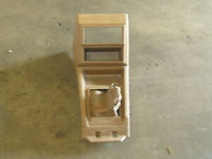 1980 Datsun Nissan Pickup 720 Brown Center Console With Mounting Bracket