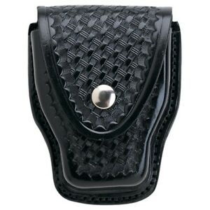 Aker Leather A508 bw Standard Chain hinge Handcuff Case Basketweave
