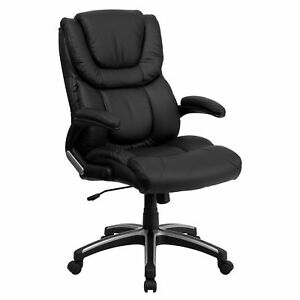 Flash Furniture Black Leather Executive Swivel Office Chair Bt 9896h gg