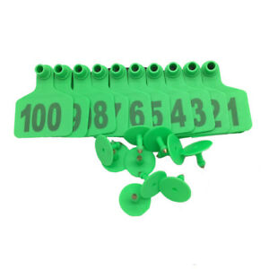 1000 Pcs Cattle Ear Tags Customized Cow Livestock Ear Marked Identification Tags