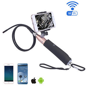 Handheld Wifi Endoscope Camera 8mm 720p Ios Android Endoscope Borescope 1m Cable