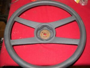 1971 1981 Camaro 4 Spoke Steering Wheel Blue Gray Color Original Gm Nice Cond