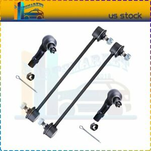 For 2002 2003 Mazda Protege 5 Suspension Front Sway Bar Outer Tie Rod End Kit 4x