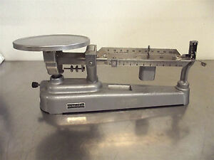 Welch Scientific Triple Beam Scale good Working Cosmetic Condition s2818x