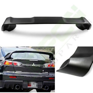 Black Reduce Weight Fit For 08 17 Mitsubishi Lancer Evo 10 Trunk Spoiler Wing