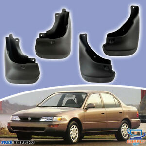 93 97 Toyota Corolla Sedan Mud Flaps Splash Mudguards Set 4 Pcs Front Rear Lh Rh