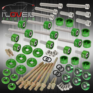 K series Acura Cam Cap cup header m8 Fender Race valve Cover Washer bolt Green