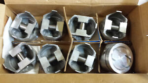 400 Chevy Forged Pistons Standard Dish Turbo 4 Reliefs Set Of 8 L2376f Trw