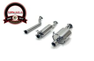 Yonaka 2 5 Piping 02 06 Acura Rsx Base Catback Exhaust Muffler System Dc5 K20a3