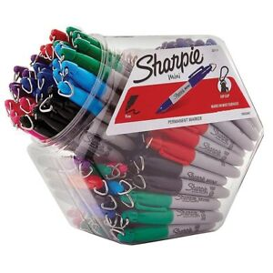 Mini Sharpie Fine Point Permanent Markers 72 count Assortment Fine Point