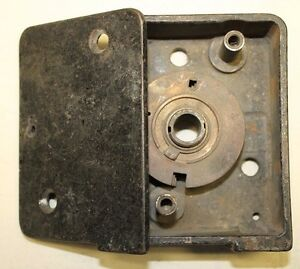 Antique Safe Lock Box Case W Wheel Pack For Cary Cast Iron Safes 1900 s