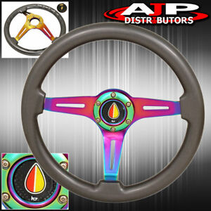 345mm Universal Godsnow 6 Bolt Steering Wheel Koreisha Horn Button Jdm Drift