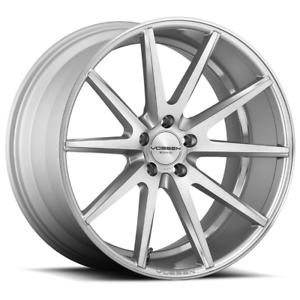 Set 4 20x9 32 5x114 3 Vossen Vfs1 Silver Wheels rims 20 Inch 61629