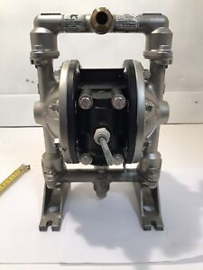 Double Diaphragm Pump 316 Stainless Steel 3 4 In Out Last Use Mineral Spirits