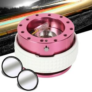 Nrg Pink Body Glow Ring Gen 2 1 Steering Wheel Quick Release Blind Spot Mirrors