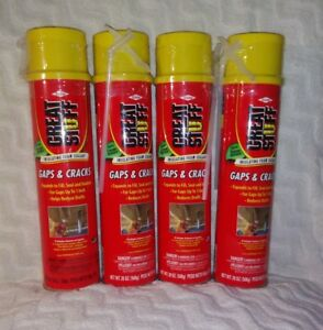 4 Pack 20 Oz Great Stuff Expanding Insulating Foam New Sealed