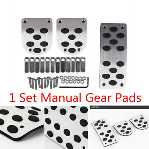 3x Manual Gear Transmission Pedals Pads Car Gas Brake Metal Pedal Non Slip Cover