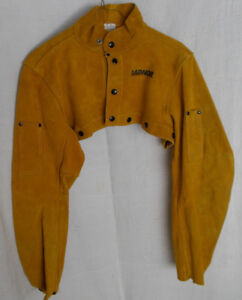 Radnor 3221 Heavy Leather Welding Bib Cape Sleeves Chest Arm Protection Nwot