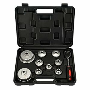 Mofeez Oil Filter Cap Wrench Metric 10 piece Socket Set Tool Kit 24mm To 65mm