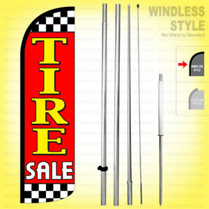 Tire Sale Windless Swooper Flag Kit 15 Feather Banner Sign Rq h