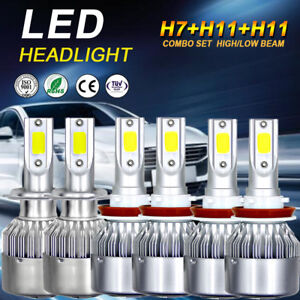 Combo H7 H11 H11 Combo Led Headlight Bulbs Hi Low Fog For Ford Fusion 2006 2018
