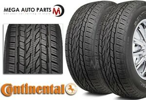 2 New Continental Crosscontact Lx20 235 70r16 106t Owl Tires