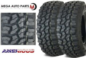 2 New Americus Rugged Mt 3110 50r15lt 109q C 6 All Terrain Mud Tires