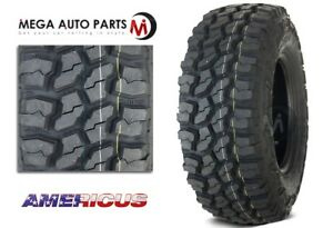 1 New Americus Rugged Mt 33x12 50r15lt 108q C 6 All Terrain Mud Tires