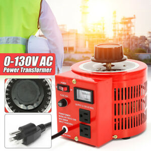 Auto Variable Transformer 5 20 Amps Ac Voltage Regulator Metered 0 130v Us