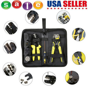 4 In 1 Wire Crimpers Ratcheting Terminal Crimping Pliers Wire Stripper Us B4k5