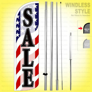 Sale Windless Swooper Flag Kit 15 Feather Banner Sign Wave Wq95 h