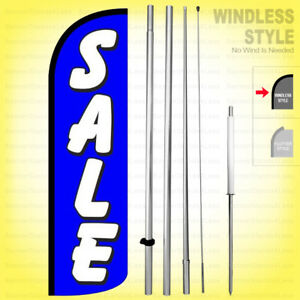 Sale Windless Swooper Flag Kit 15 Feather Banner Sign Bq h