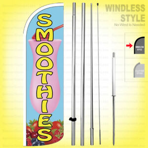 Smoothies Windless Swooper Flag Kit 15 Feather Banner Sign Bq33 h