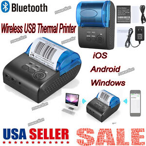 Portable 58mm Wireless Usb Thermal Printer Receipt Bill Ticket Pos Printing J3y5