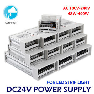 Dc12v 24v 12w 600w Led Switching Driver Transformer Power Supply Strip Light Lot