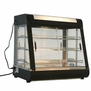 27 commercial Food Warmer Court Heat Food Pizza Display Warmer Cabinet Glass Usa