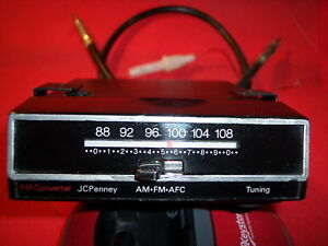 Vintage Jc Penny Am To Fm Car Radio Mini converter With Afc Serviced Works Tunes
