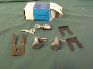 Nos 1963 1964 Ford Galaxie Door Ignition Lock Set With Keys Oem 63 64