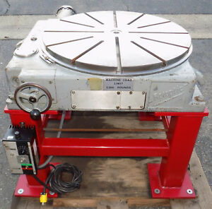 Sip Pd 6h 800mm 31 5 Motorized Rotary Table Societe Genevoise Rotoptic
