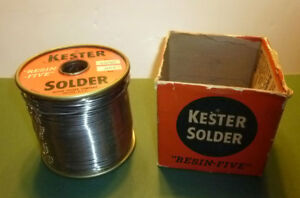 New Old Stock Kester 5 Lb 062 50 50 Resin Five Rosin Flux Core Solder 5 Pounds