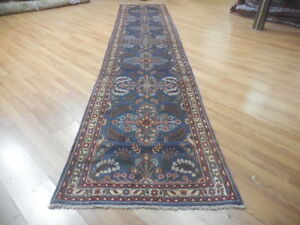 C1930 Vgdy Antique Serapi Lilihan Mallayer Sarouk 3 5x17 Estate Sale Rug