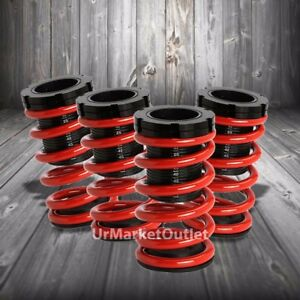 Front Rear Scaled Black Coilover Red Lowering Spring For 00 05 Neon Srt 4 2 0l