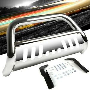 Chrome Bull Bar Bumper Grille Guard Skid Plate For Jeep 11 16 Grand Cherokee