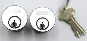 Two 1 1 4 Schlage Mortise Cylinders W2 Keys Sc4 Keyway Commercial