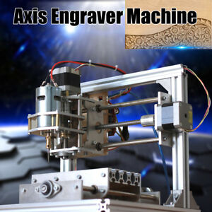 Diy Mini 3 Axis Cnc Machine Pcb Milling Wood Router Engraving Engraver Printer