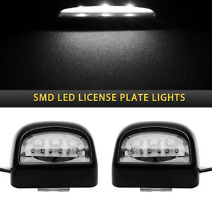 Pair License Plate Smd Led Lights Fits 1999 2013 Gmc Chevy Tahoe Sierra Esca