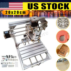 3 axis Diy Cnc Router Engraver Pcb Pvc Wood Milling Carving Engraving Machine Us